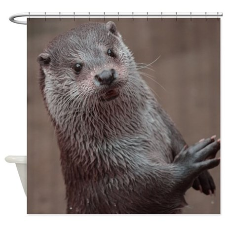 Sweet Young Otter Shower Curtain By Listing Store 113089915