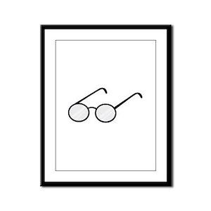 Eye Glasses Framed Panel Print