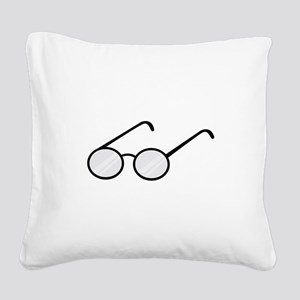 Eye Glasses Square Canvas Pillow