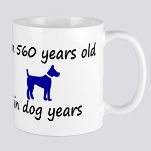 80 dog years blue dog 2 Mugs