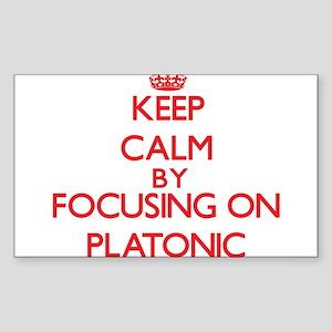 Keep Calm by focusing on Platonic Sticker