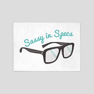 Sassy In Specs 5'x7'Area Rug
