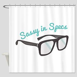Sassy In Specs Shower Curtain