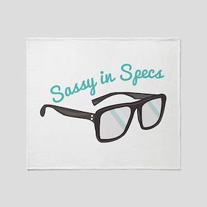 Sassy In Specs Throw Blanket