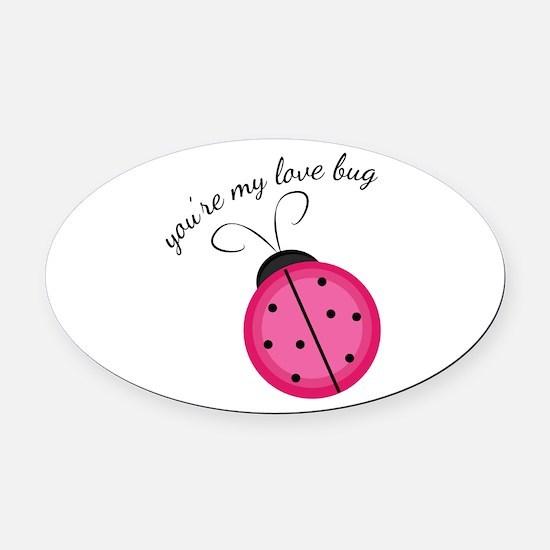 Love Bug Oval Car Magnet