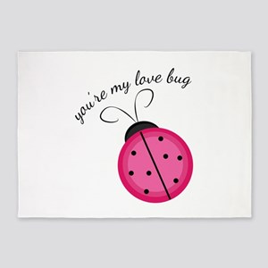 Love Bug 5'x7'Area Rug