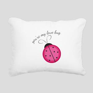 Love Bug Rectangular Canvas Pillow