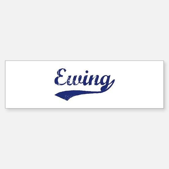 Ewing vintage blue bumper bumper bumper sticker
