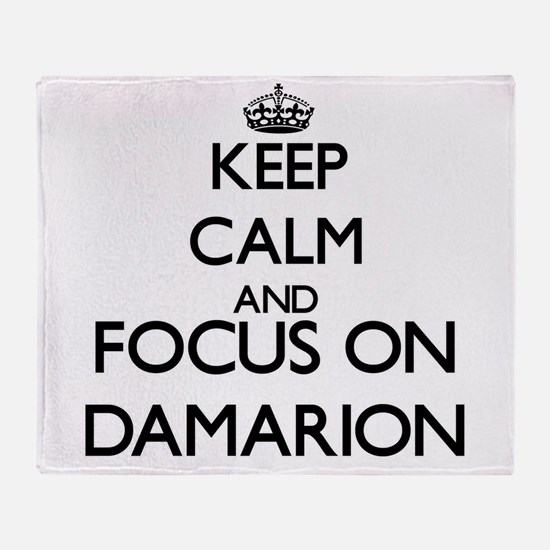 Keep Calm and Focus on Damarion Throw Blanket