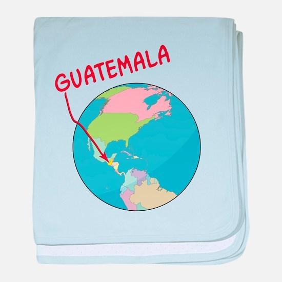 guatemala-globe.png baby blanket