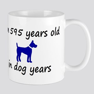 85 dog years blue dog 2 Mugs