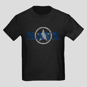 Navy - I Support My Girlfriend Kids Dark T-Shirt