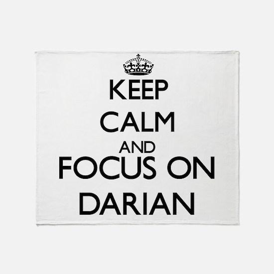 Keep Calm and Focus on Darian Throw Blanket