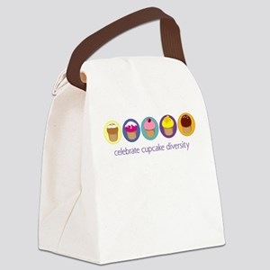 cupcake-diversity Canvas Lunch Bag