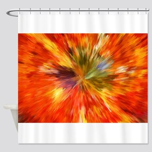 Abstract Burst Shower Curtain