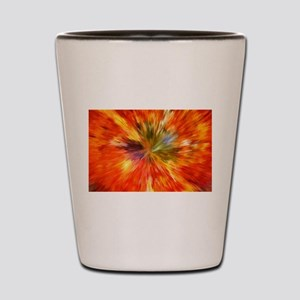 Abstract Burst Shot Glass