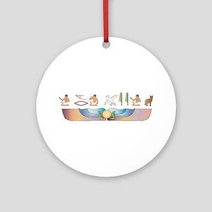 Sokoke Hieroglyphs Ornament (Round)