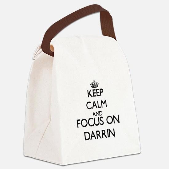 Keep Calm and Focus on Darrin Canvas Lunch Bag