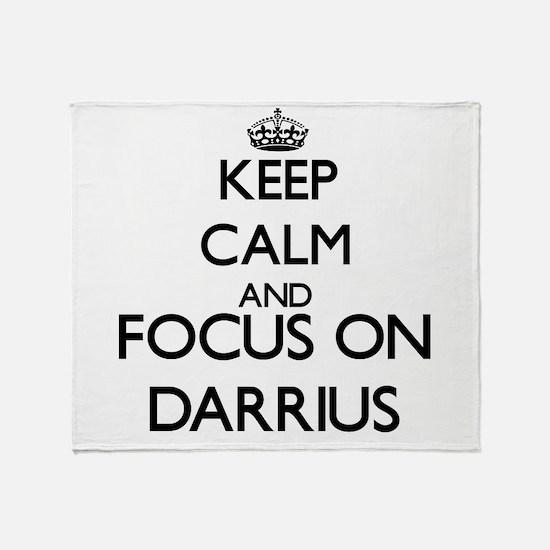 Keep Calm and Focus on Darrius Throw Blanket