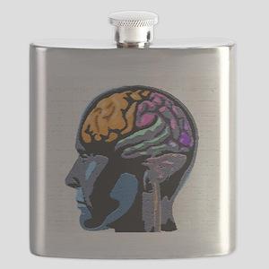 Human Mind Street Art Flask