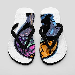 Human Mind Street Art Flip Flops