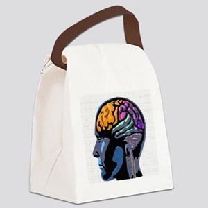 Human Mind Street Art Canvas Lunch Bag
