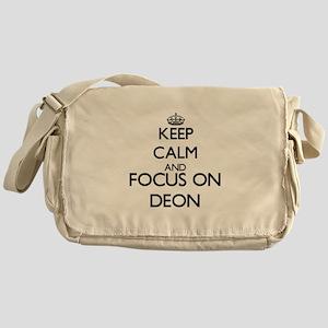 Keep Calm and Focus on Deon Messenger Bag
