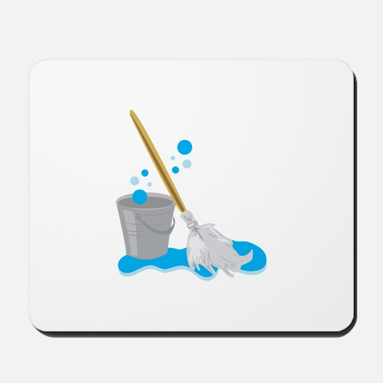 Bucket And Mop Mousepad