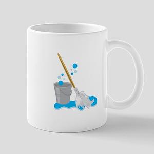 Bucket And Mop Mugs