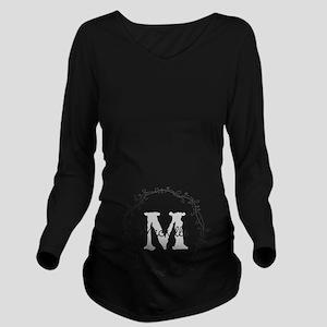 Personalized vintage monogram Long Sleeve Maternit