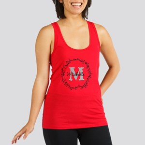 Personalized vintage monogram Racerback Tank Top