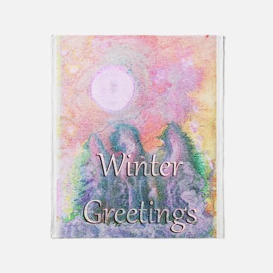 Winter Greetings Throw Blanket