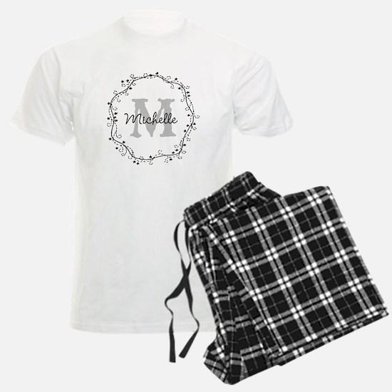 Personalized vintage monogram Pajamas