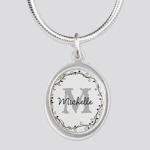 Personalized vintage monogram Necklaces