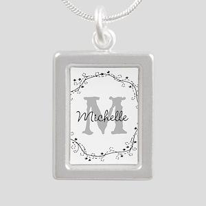 Personalized vintage monogram Necklaces