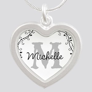 Personalized Monogram Heart Shape Necklaces