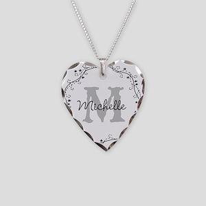 Personalized vintage monogram Necklace