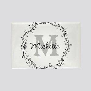 Personalized vintage monogram Magnets