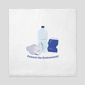 Protect the Environment Queen Duvet