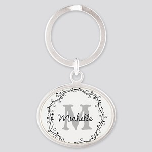 Personalized Vintage Monogram Keychains For Women