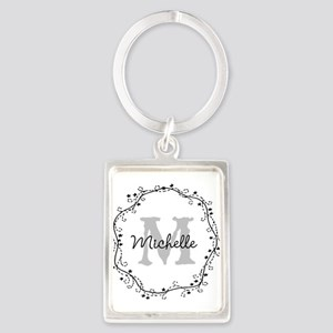 Personalized vintage monogram Keychains