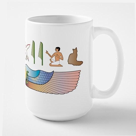 Nebelung Hieroglyphs Large Mug