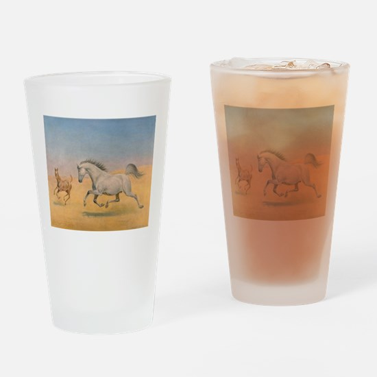 Arab Mare and Foal Drinking Glass