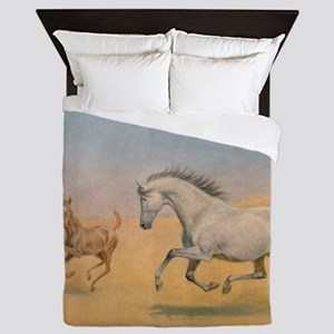 Arab Mare and Foal Queen Duvet