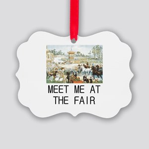 Country Fair Picture Ornament