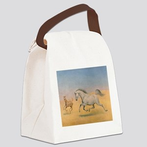 Arab Mare and Foal Canvas Lunch Bag