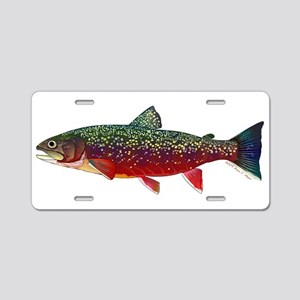 Brook Trout v2 Aluminum License Plate