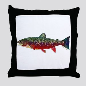 Brook Trout v2 Throw Pillow