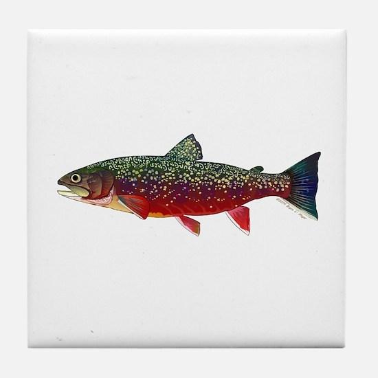 Brook Trout v2 Tile Coaster