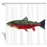 Brook Trout v2 Shower Curtain